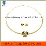 Goud van het Plateren van de Juwelen van de Manier van Shineme het Vacuüm met de Nagel van het Oor van het Roestvrij staal van de Steen (ERS6886)