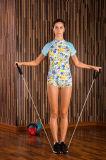 女性のSpandex+Polyester Teamsportsの体操の連続した適切な圧縮のスポーツ・ウェア