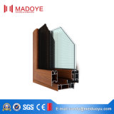 Openslaand raam van uitstekende kwaliteit van de Stijl van het Aluminium het Amerikaanse met Glas laag-E