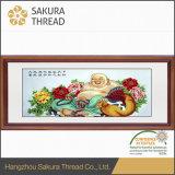 Het Chinese Schilderen van Boedha van de Waterverf met Brancard