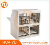 Gabinete / gabinete fabricado em chapa metálica para consola / mesa de console