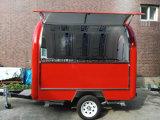 Pequeña solución agradable del acoplado del vendedor de calle