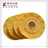綿の宝石類の/Steelによって縫われる歯科黄色い磨く布車輪のディスクのポーランド語