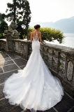 Платья венчания Mermaid Genvy разнослоистые с Fishbone