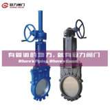 セリウムISOのAPI Bevel Gear Knife Gate Valve
