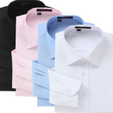 Одежды людей рубашек платья Mens сплошного цвета людей рубашки черноты пригонки вскользь втулки рубашки людей длинней эластичные тонкие
