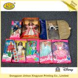 Caixa de empacotamento do brinquedo colorido para a boneca de Barbie