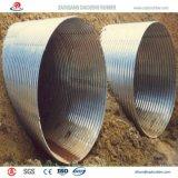 Tubulação de aço ondulada galvanizada de grande extensão para a sargeta da estrada a Qatar