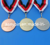 Metal su ordinazione Sports Award Medals in Gold/Silver/Bronze (ASNY-MM-TM-074)