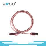 Neuester Entwurf 2 in 1 Blitz-Mikrofaser USB-Daten-Kabel