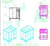 Máquina de revestimento do pó (sistema da cabine de pulverizador do pó)