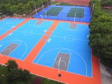 Modularer Basketballplatz-Fußboden für im Freien und Innen (Basketball-Goldsilber-Bronze)