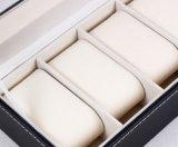 Uhr-Schaukarton-Schmucksache-Kasten-Leder-Ablagekasten