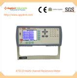 Appareillage de mesure multicanal de résistance pour avec l'ohm de 1micro Ohm-300k (AT5110)