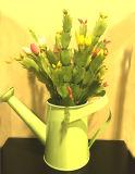 훈장을%s 급수 꽃 물통에 있는 인공적인 플랜트 Zygocactus