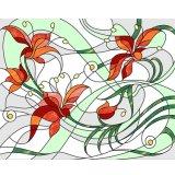カスタマイズされるDIYは壁Abstactのステンドグラスのモザイクを描く