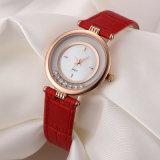 Shell-Vorwahlknopf-Antike-Frauen-Uhr der Form-Dame-Uhr weiße