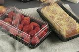 Gesundheits-schwarzer Plastikbehälter mit Kappe für Brot-/Kuchen-/Sushi-Fabrik