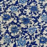 Tissu 100% neuf de lacet de mode de fleur d'impression de polyester pour le vêtement (0008)