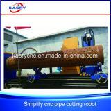 Macchina di taglio alla fiamma del plasma di CNC del cavalletto del tubo d'acciaio di alta esattezza