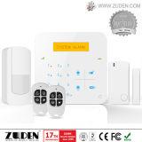 GSM het Draadloze & Getelegrafeerde Intelligente Systeem van het Alarm van de Indringer