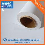 Roulis blanc de PVC de plastique de lustre rigide de 0.7mm pour l'impression