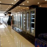 2017 kühlte aufrechtes Glastür-Verkaufsmöbel mit 110V
