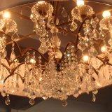 Светильник европейской гостиницы декоративный кристаллический привесной с тенью ткани