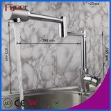 Fyeer doble brazo de extensión de latón grifo del fregadero de la cocina