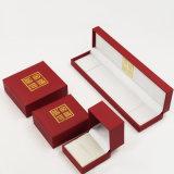 Caixa Handmade luxuosa de Flannelette do fiapo da tela do cetim (J37-E2)