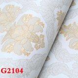 Paño de pared del PVC, papel pintado del PVC, PVC Wallcovering, papel de empapelar del PVC, tela de la pared, papel pintado del PVC