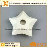 Suporte de vela branco da forma da estrela das bacias de Tealight da porcelana