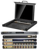 Toesee Marke 8ports 19 Zahnstangen-Montierung des Zoll Kvm Schalter-1u Schalter 15 Zoll LCD-Kvm