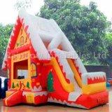 De Opblaasbare Uitsmijter Combo van Kerstmis voor Jonge geitjes/Opblaasbaar het Springen Kasteel met het Huis van de Kerstman