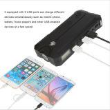 12000mAh LCDスクリーン及びコンパスおよび電話のために満たすLEDの懐中電燈3 USBが付いている携帯用車のジャンプの始動機力バンクポート