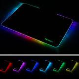 LED que enciende la estera colorida dura de los ratones del mac del cuaderno del ordenador del RGB de la pista de ratón del juego