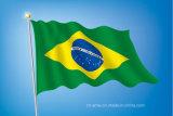 Изготовленный на заказ Sunproof и водоустойчивый флаг Бразилии национального флага