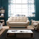 Modernes ledernes Sofa des kleinen Wohnungs-Wohnzimmer-Sofa-Sets