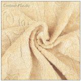 Paño marrón claro de la toalla de Terry del telar jacquar para la ropa