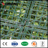 Haie en plastique de frontière de sécurité de criblage d'herbe de haie artificielle