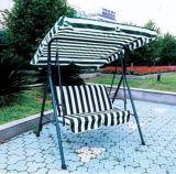 Oscillazione pieghevole esterna del giardino con il parasole del tessuto