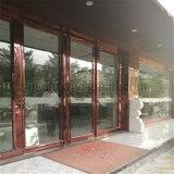 중국제 호텔 로비 스테인리스 문틀 청동 가는선 완료