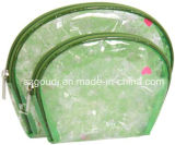 かわいいPVC旅行装飾的な構成袋2袋の組合せ