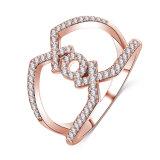 新しい女性のXox CZのダイヤモンドの宝石類のリングの方法(CRI1028)