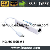 USB Multifunction 3.1 Cm a USB 2.0 com o adaptador do LAN RJ45