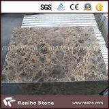 Темная плитка Emperador мраморный составная с затыловкой фарфора для настила