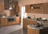 De glanzende/Matte Kasten van de Keuken van de Melamine Houten (ZHUV)