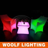 Осветите вверх стул PE пластичный Chairs/LED/светлое место