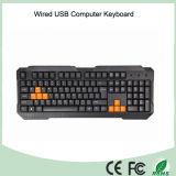 China de fábrica de broche precio fresco Diseño del teclado normal por cable (KB-1688)