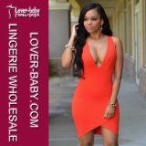 Verano de prendas de vestir de naranja vestido de señora Fashion Wear (L28018)